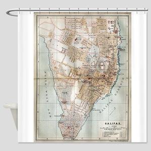 Vintage Map of Halifax Nova Scotia Shower Curtain