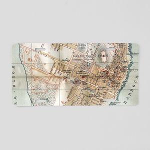 Vintage Map of Halifax Nova Aluminum License Plate