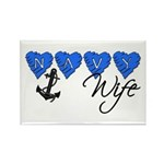 Navy Wife Rectangle Magnet (10 pack)