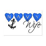 Navy Wife  Mini Poster Print