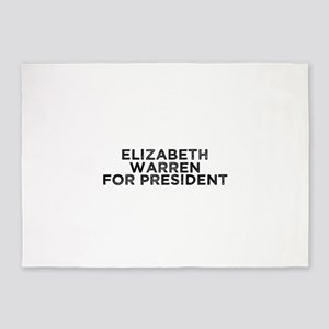 Elizabeth Warren for President 5'x7'Area Rug