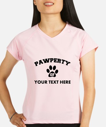 Personalized Dog Pawperty Performance Dry T-Shirt