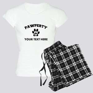 Personalized Dog Pawperty Women's Light Pajamas