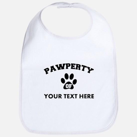 Personalized Dog Pawperty Bib