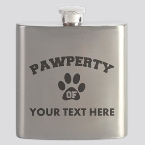 Personalized Dog Pawperty Flask