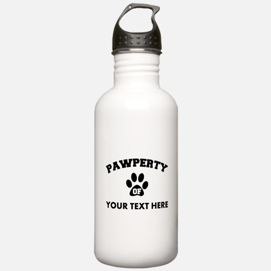 Personalized Dog Pawpe Water Bottle