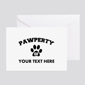 Personalized Dog Pawperty Greeting Card