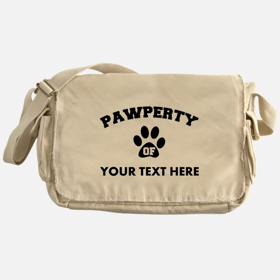 Personalized Dog Pawperty Messenger Bag