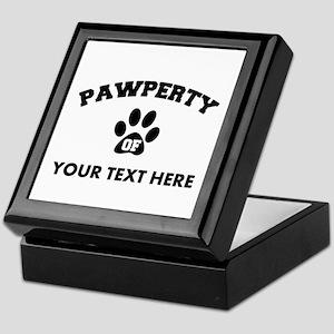 Personalized Dog Pawperty Keepsake Box