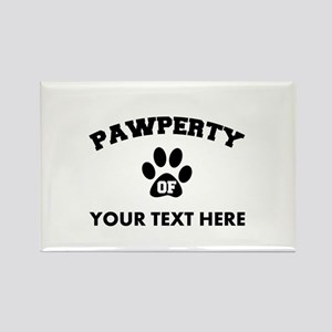Personalized Dog Pawperty Rectangle Magnet