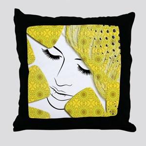 Yellow Dream Throw Pillow