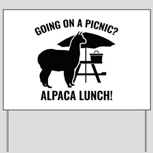 Going On A Picnic? Yard Sign