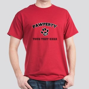 Personalized Cat Pawperty Dark T-Shirt