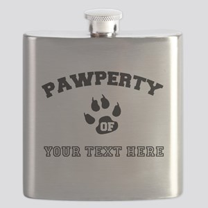 Personalized Cat Pawperty Flask