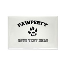 Personalized Cat Pawperty Rectangle Magnet