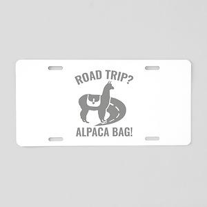 Road Trip? Aluminum License Plate