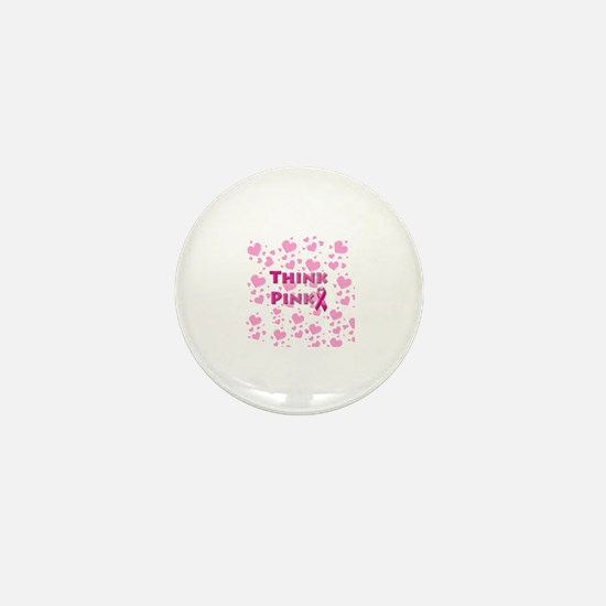 Think Pink for Breast Cancer Mini Button