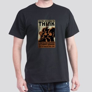 Futurama You're Not Paid to Think Dark T-Shirt