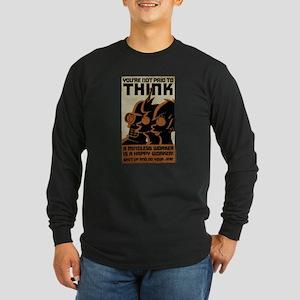 Futurama You're Not Paid Long Sleeve Dark T-Shirt