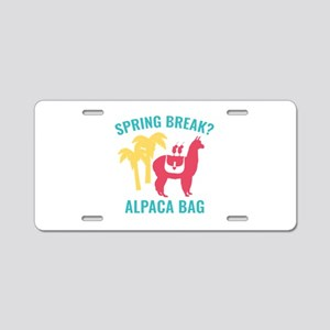 Spring Break? Aluminum License Plate