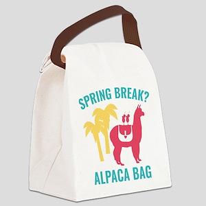 Spring Break? Canvas Lunch Bag