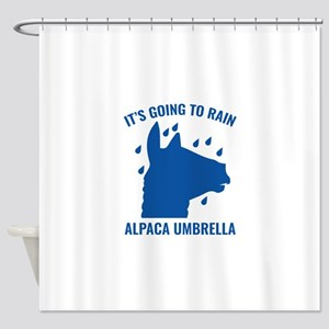 Alpaca Umbrella Shower Curtain
