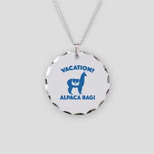 Vacation? Alpaca Bag! Necklace Circle Charm