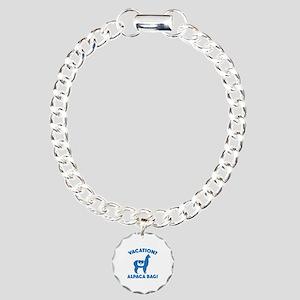 Vacation? Alpaca Bag! Charm Bracelet, One Charm