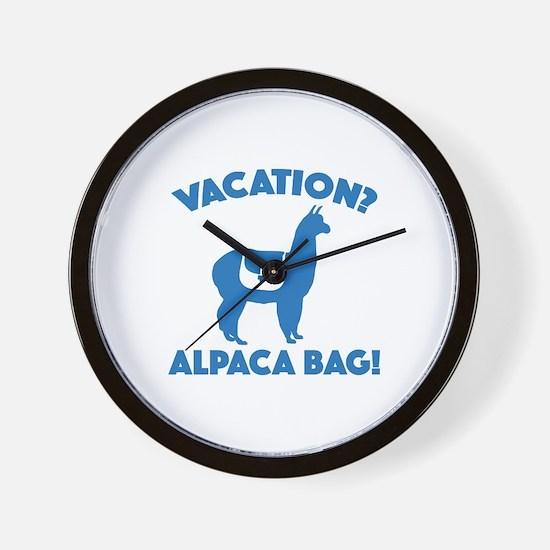 Vacation? Alpaca Bag! Wall Clock