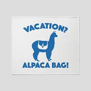 Vacation? Alpaca Bag! Stadium Blanket
