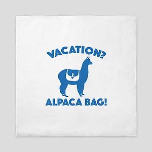 Vacation? Alpaca Bag! Queen Duvet