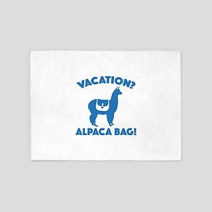 Vacation? Alpaca Bag! 5'x7'Area Rug