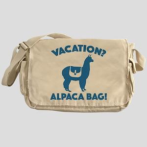 Vacation? Alpaca Bag! Messenger Bag