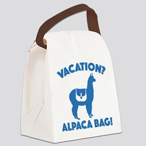 Vacation? Alpaca Bag! Canvas Lunch Bag