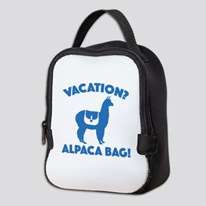 Vacation? Alpaca Bag! Neoprene Lunch Bag