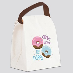 Donut Worry Canvas Lunch Bag