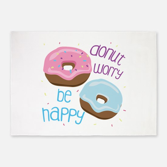 Donut Worry 5'x7'Area Rug