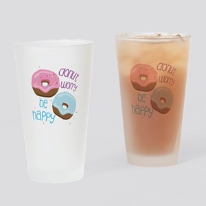Donut Worry Drinking Glass