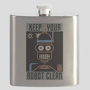 Futurama Keep Your Robot Clean Flask