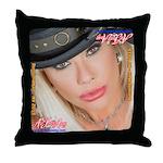 Air Force Amy - Burning Man 2015 Throw Pillow
