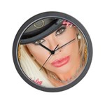 Air Force Amy - Burning Man 2015 Wall Clock