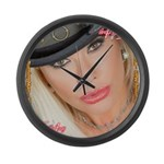 Air Force Amy - Burning Man 2015 Large Wall Clock
