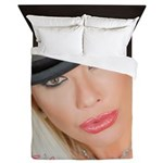 Air Force Amy - Burning Man 2015 Queen Duvet