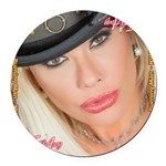 Air Force Amy - Burning Man 2015 Round Car Magnet