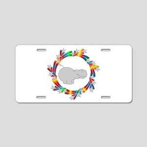 Hippo Stars Aluminum License Plate