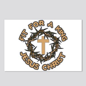 Jesus Fit for a King Postcards (Package of 8)