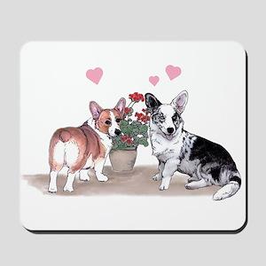 Corgi Valentine  Mousepad