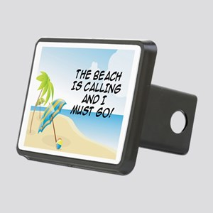 THE BEACH IS CALLING AND I Rectangular Hitch Cover