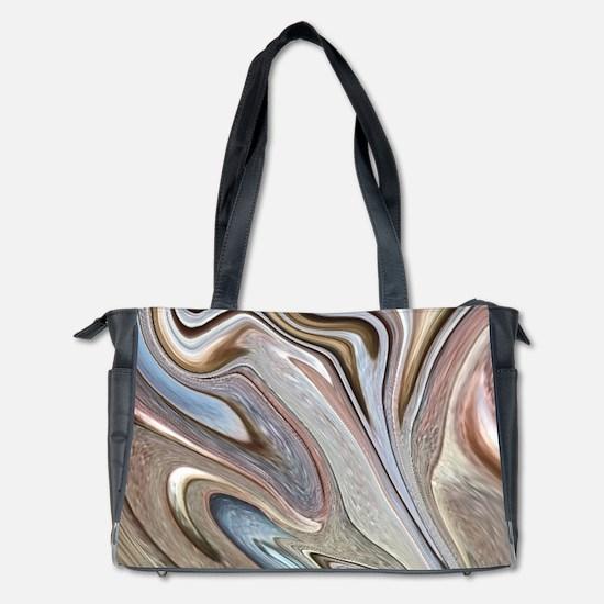 brown marble swirls Diaper Bag