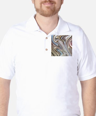 brown marble swirls Golf Shirt